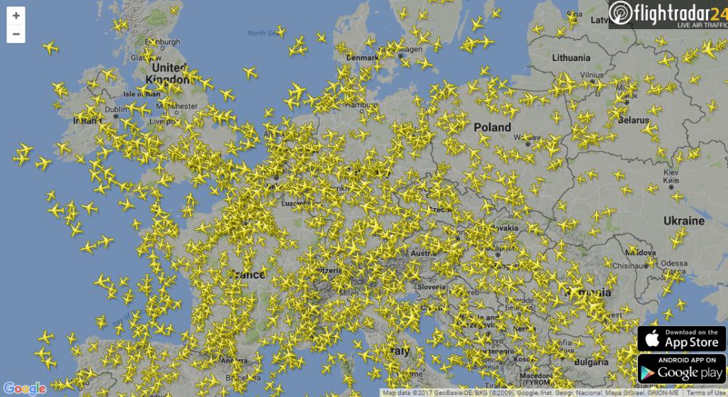 Flugverfolgung Flightradar24 Flugradar